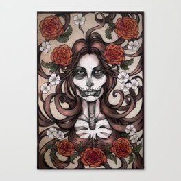 Blossoming Day of the Dead Canvas Print