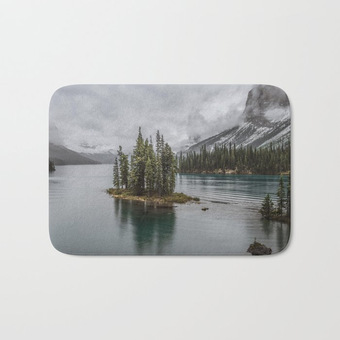 Landscape Maligne Lake Photography   Alberta   Canada Bath Mat