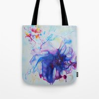 fairy tale Tote Bags featuring Fairy Tale by Maria Lozano - Art