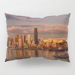 Seattle Cityscape Pillow Sham