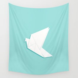 Origami pigeon Wall Tapestry
