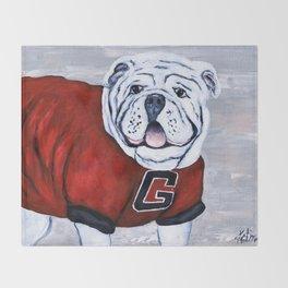 Georgia Bulldog Uga X College Mascot Throw Blanket