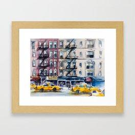 New York, wtercolor sketch Framed Art Print