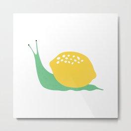 Zesty Snail Metal Print