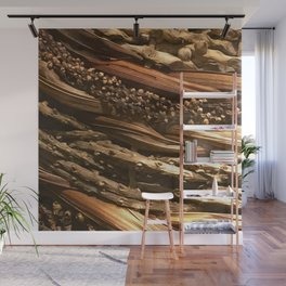 Ancient Hawaiian Tropical Basket Weave Design Wall Mural
