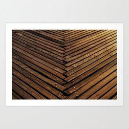 Wooden Artistic pallets Art Print