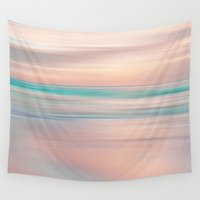 sublime Wall Tapestries featuring SUNRISE TONES by Catspaws