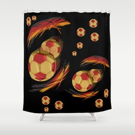 playing german football Shower Curtain