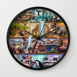 The Amazing Animal Kingdom Wall Clock