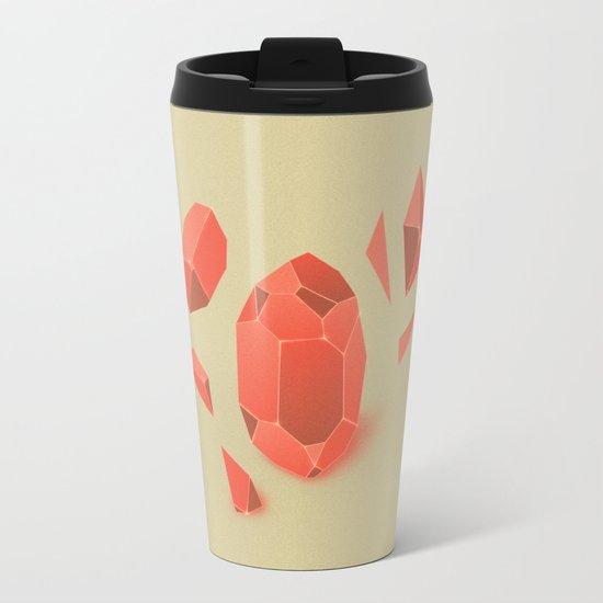 Falling Crystals Metal Travel Mug