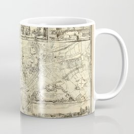 Map Of Exeter 1744 Coffee Mug