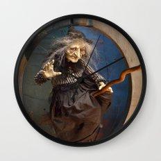 Rucus Studio Witch's Flight Halloween Wall Clock