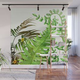 Watercolor Plants Wall Mural