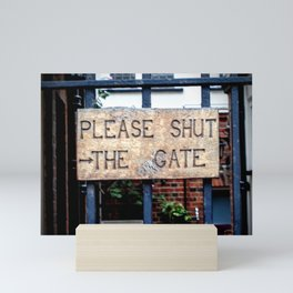 Shut the Gate Mini Art Print