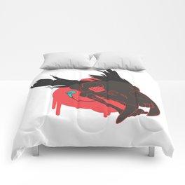 Reds Dead Comforters