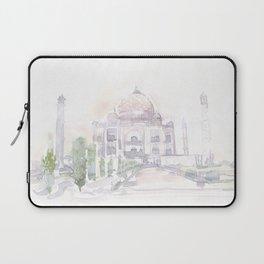 Watercolor landscape illustration_India - Taj Mahal Laptop Sleeve