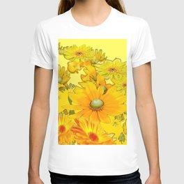 DECORATIVE YELLOW FLORAL GARDEN ART T-shirt
