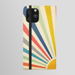 Sun Retro Art III iPhone Wallet Case