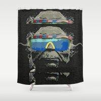 yoda Shower Curtains featuring Yoda by Blake Byers