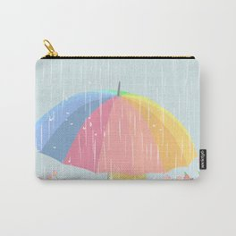 Girl Walking In Rain Day Carry-All Pouch