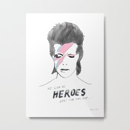 Ziggy - Heroes Metal Print