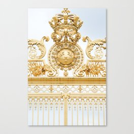 Versailles Golden Gates Canvas Print