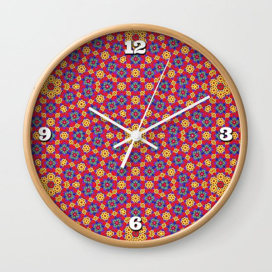 Country Festival Pattern Wall Clock