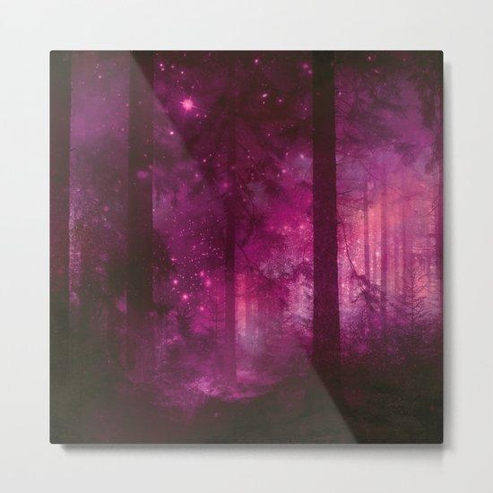Into the purpur light Metal Print