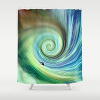 surf Shower Curtains featuring Surf by  Agostino Lo Coco
