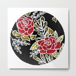 Floris noctis: rosae Metal Print