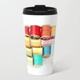 Colorful Needle and Thread Travel Mug