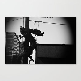 Dragon on the streets Canvas Print