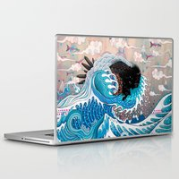 japanese Laptop & iPad Skins featuring The Unstoppabull Force by Mat Miller