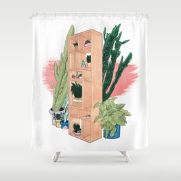 Office Plants Shower Curtain