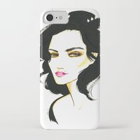 selena gomez iPhone & iPod Cases featuring Selena Kyle by Made on Sundays