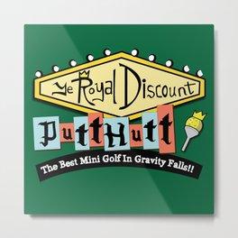 Gravity Falls Mini Golf Metal Print