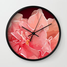 Double Hibiscus in Chocolate Wall Clock