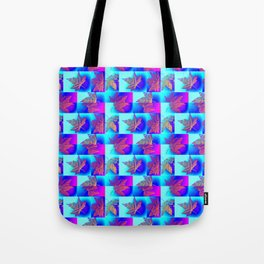 purple pink turquoise study  Tote Bag