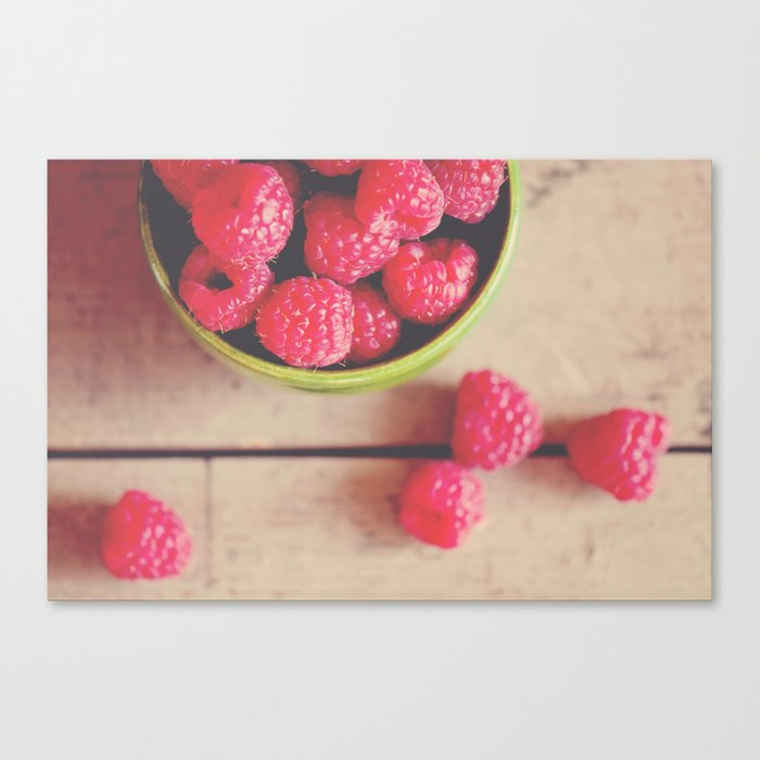 there is something in the red of a raspberry ...  Canvas Print