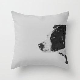 Snoop in Profile Throw Pillow