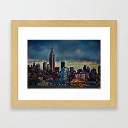 Midtown At Sunset Framed Art Print