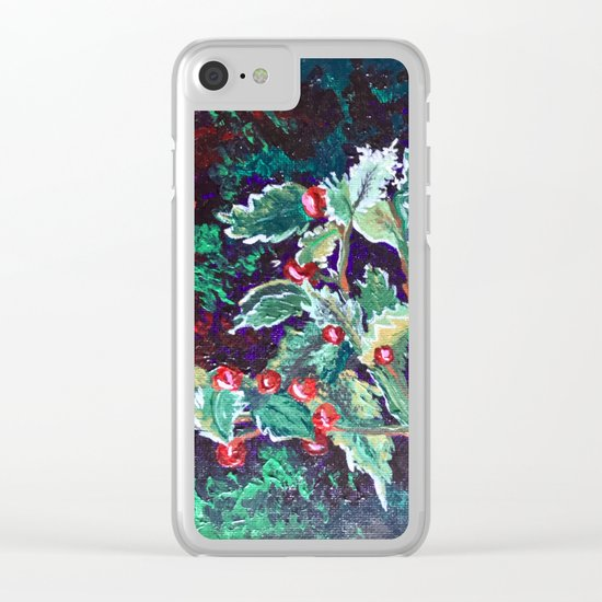 Have a Holly Jolly Christmas Clear iPhone Case