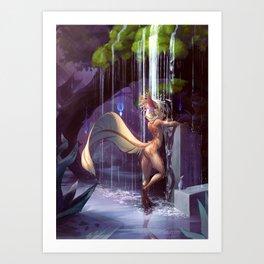 Mossy Showers Art Print