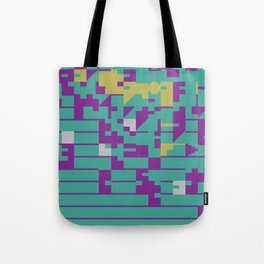Abstract 8 Bit Art Tote Bag