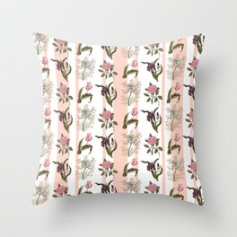 Botanical Stripes Throw Pillow
