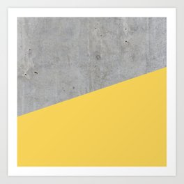 Concrete and Primrose Yellow Color Art Print