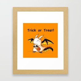 Trick or Treat Dragon Framed Art Print