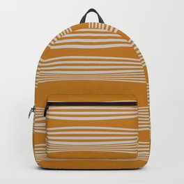 Wavy Stripes // Goldenrod Backpack