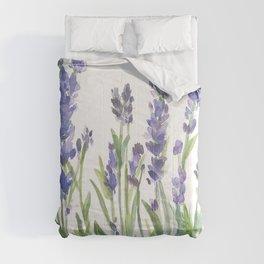 lavender garden watercolor Comforters