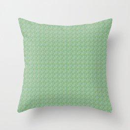 bulles vertes Throw Pillow